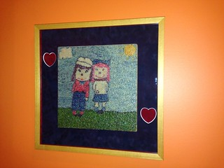 Rice mosaic in playroom
