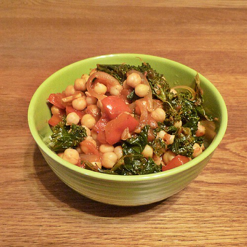 Really enjoyed the Kale & Chickpea curry I made for dinner for me and the fam this evening #meatfreemonday