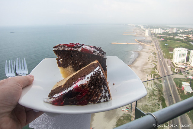 Birthday cake with a view
