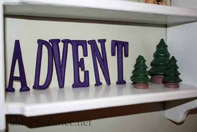 Painted Wooden Letters from Michael's Craft Store
