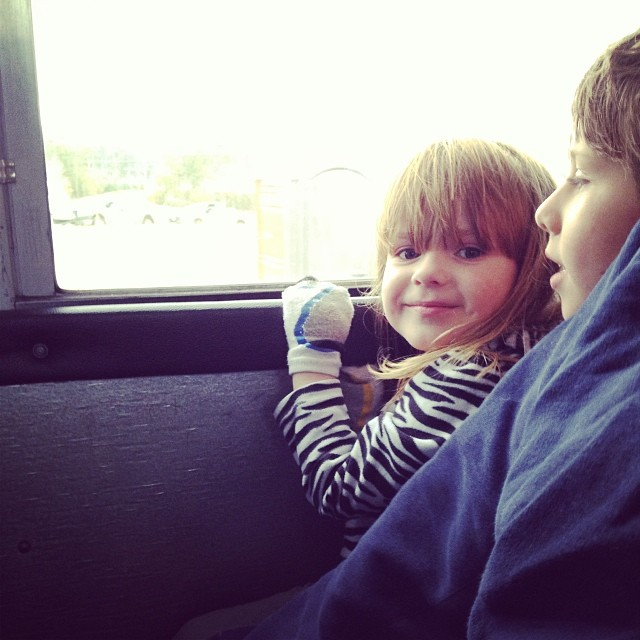 Isobel's first bus ride. :)