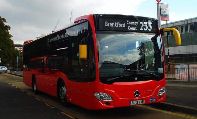Abellio XMS1 (Evobus MBK1) on Route 235, Brentford