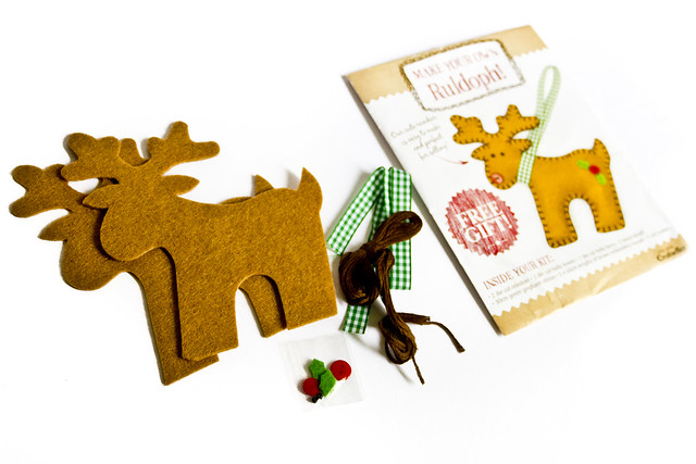 Felt reindeer kit on craftseller magazine