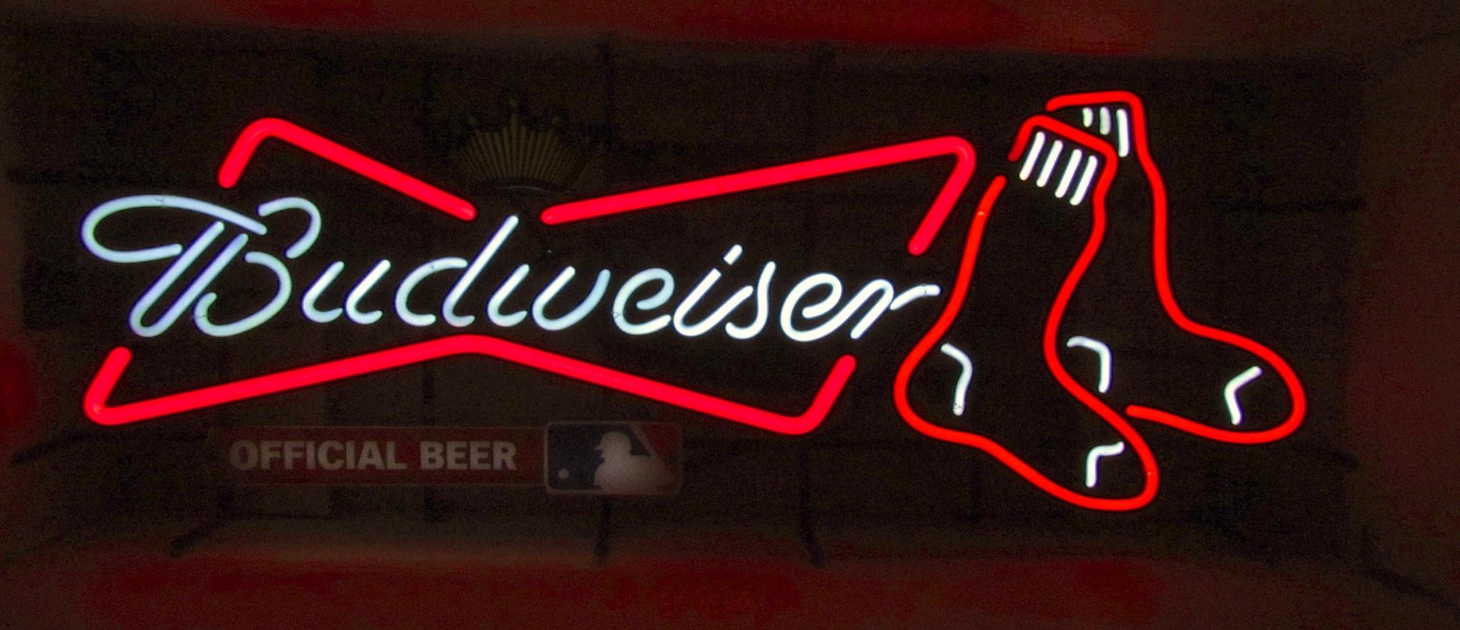 beer sign neon sox boston