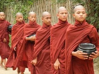 Taung Bi Village monk procession