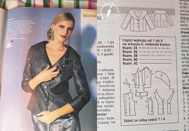 Burda 12/05, jacket #112