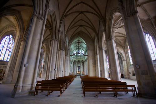 Interior, Église Notre-Dame de Saint-Lô, 2