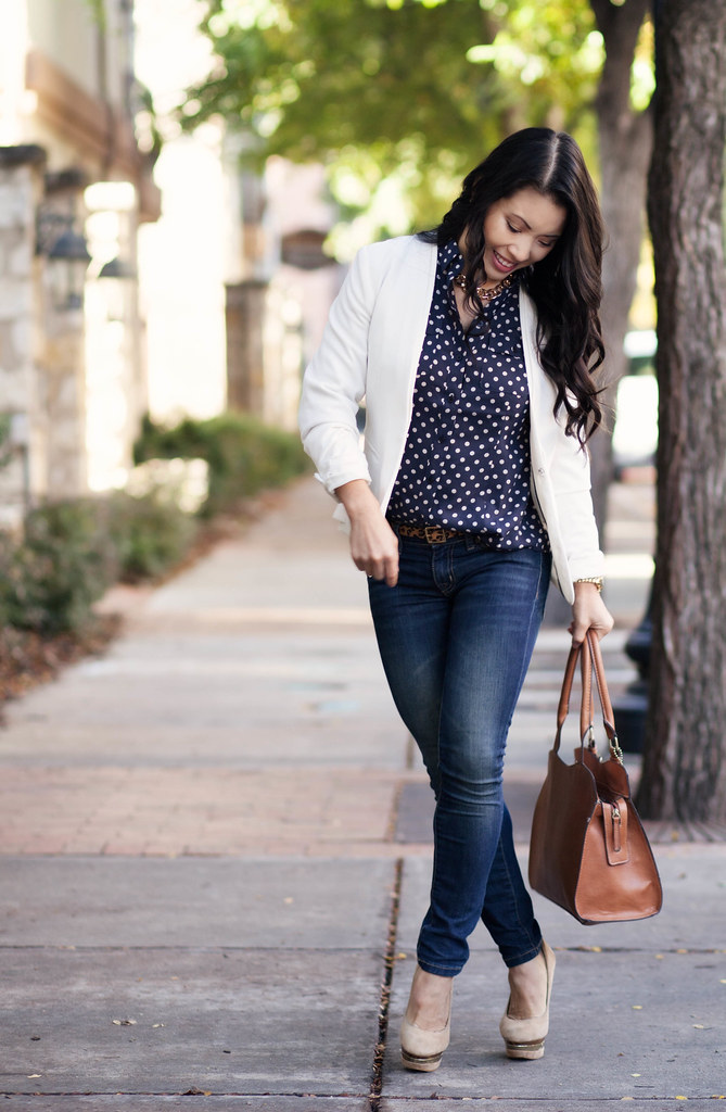 i Love This Navy Polka Dot Top