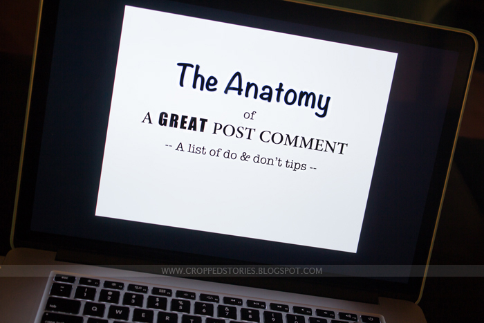 The Anatomy of a Great Post Comment via Cropped Stories