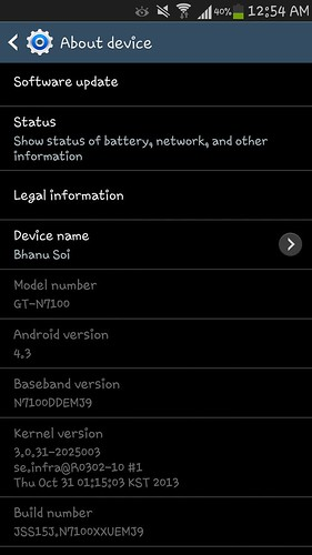 Android 4.3 для Galaxy Note 2