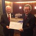 Mike Heuer - Companion of Honour pin and diploma - with FAI President (left)