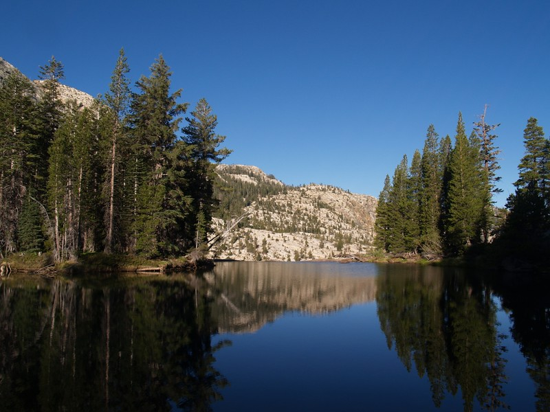 The western end of Glen Aulin where the Tuolumne River drops down to California Falls