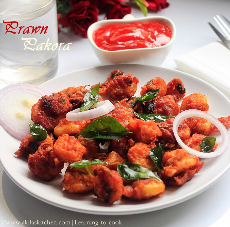 how to make prawn pakora