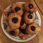 Coconut Cherry Biscuits