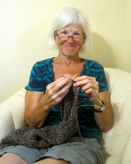 IMG_5543: Betty Knitting