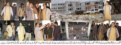 CM and Speaker GBLA visiting the under construction secretariat building
