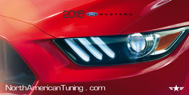 2015 Ford Mustang Unveiling Headlights