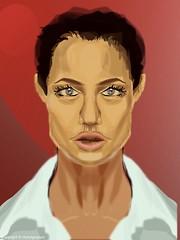 Angelina Jolie - vector only challenge