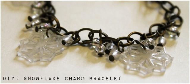 diy snowflake charm bracelet 5
