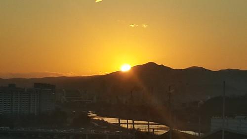gunung siluet sore matahari flickrandroidapp:filter=none 엑스포과학공원exposciencepark