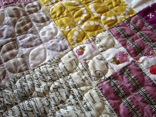 with Dogwood quilting