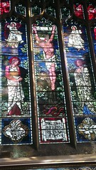 Central lights of East Window St Mary's Church Rickmansworth