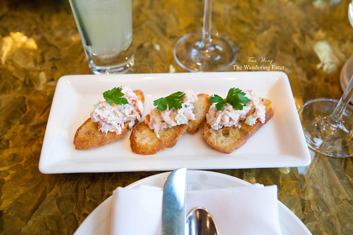 Lobster Crostini, Cannellini Bean Puree