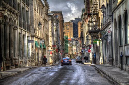 street old city port landscape ship montréal montreal rue hdr ville