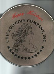Chicago Coin Company cookie tin