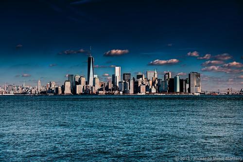 city blue panorama usa ny newyork skyline architecture america skyscraper landscape outdoors day unitedstates worldtradecenter ngc empirestatebuilding hdr riccardo mantero afszoomnikkor2470mmf28ged