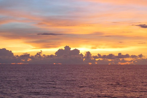 clouds sunrise pacific solomonislands