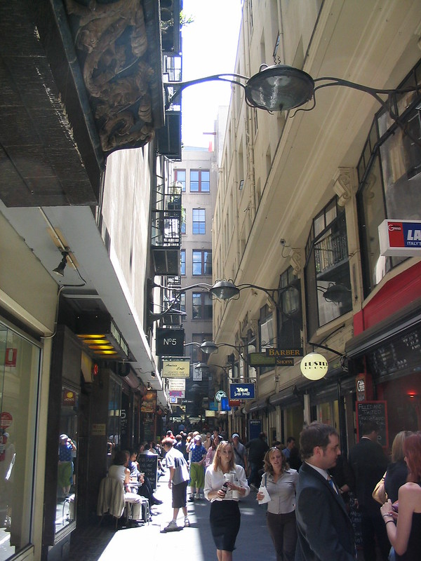 Centre Place, lunchtime (January 2004)