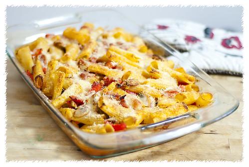 Prosciutto & Eggplant Rigatoni Bake