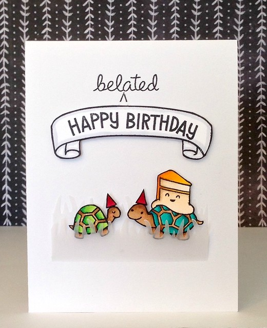 happy (belated) birthday card - ls