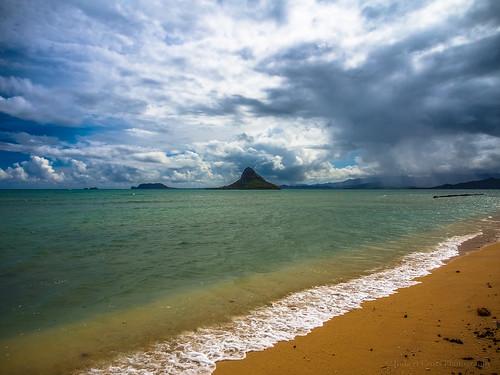 sky seascape beach clouds island hawaii sand surf oahu olympus pacificocean windward omd kualoa chinamanshat em5 mokoli'i 1250mmf3563mzuiko