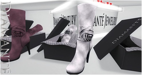 :Diamante: Romance Boots - Collection by Alliana Petunia