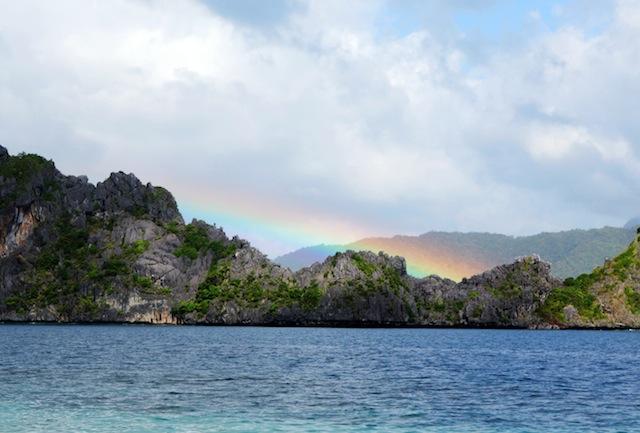 El Nido Palawan island hopping rainbow
