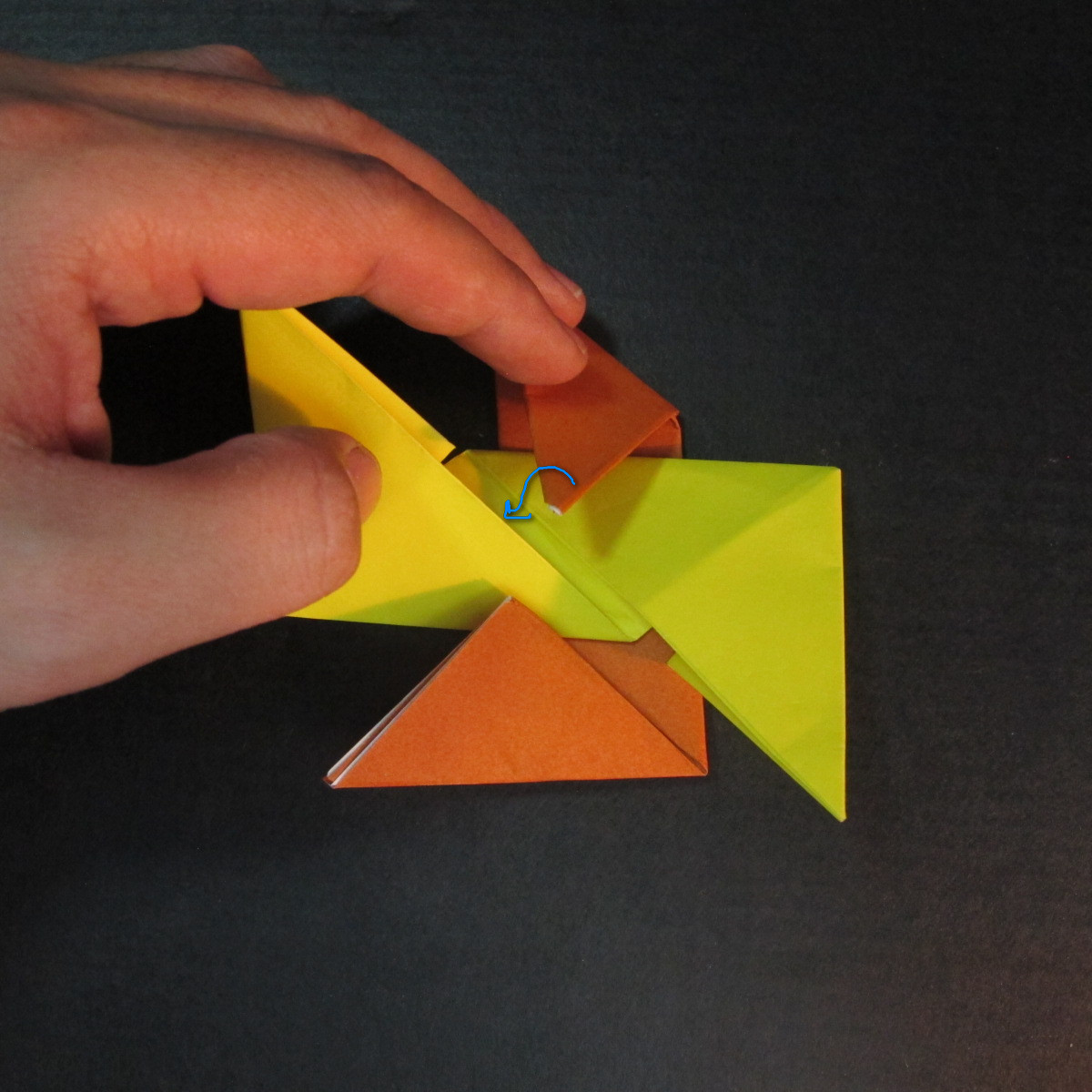สอนวิธีพับกระดาษเป็นดาวกระจายนินจา (Shuriken Origami) - 009