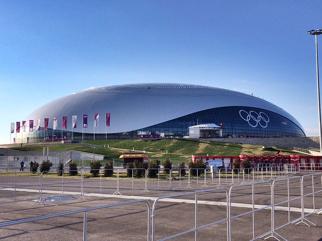 "The ""Bolshoy"" Ice Dome, where a majority of the #Sochi2014 hockey games will be played"