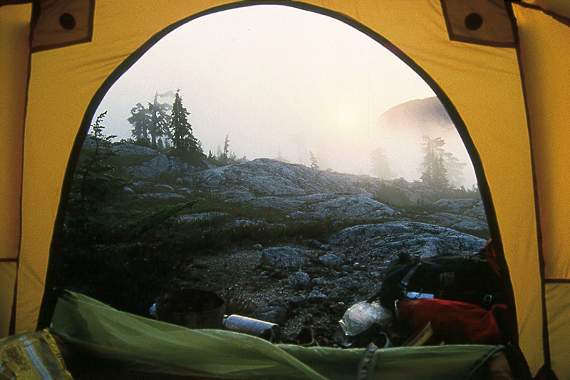 Wilderness Camping in Strathcona Provincial Park, Central Vancouver Island, British Columbia, Canada