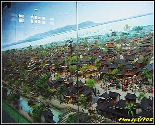 杭州 吳山天風景區 - 071 (城隍閣 內的南宋時期的杭州風情軟木立體畫))