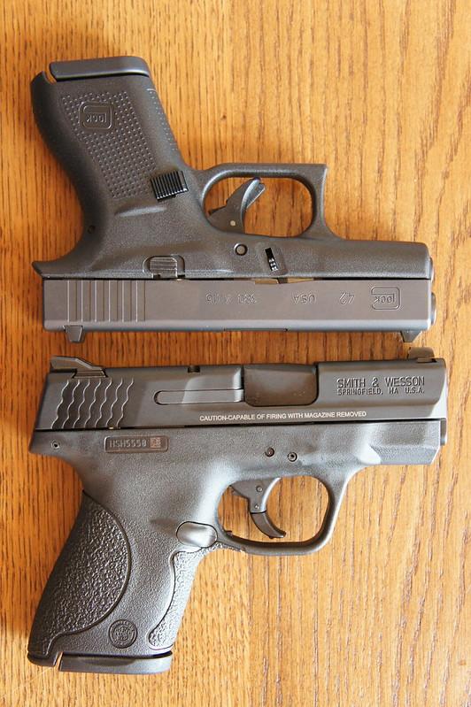 M And P Shield Vs Glock 26 Glock 42 vs  M ampP Shield 9mm