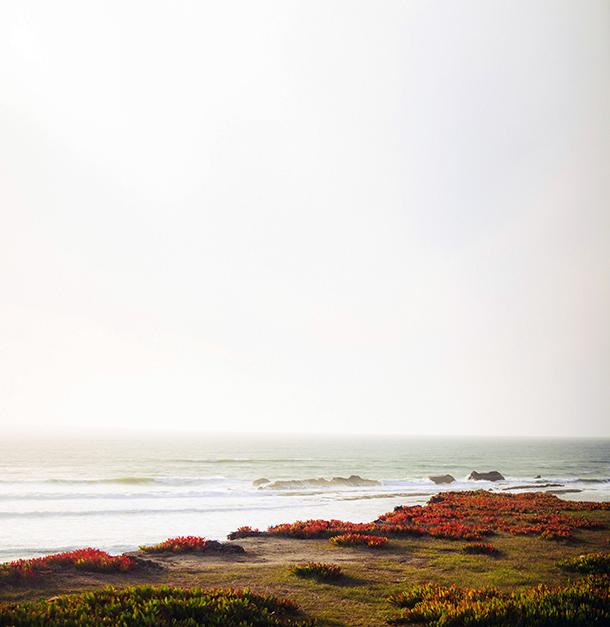 half moon bay hilton, winter beach photos