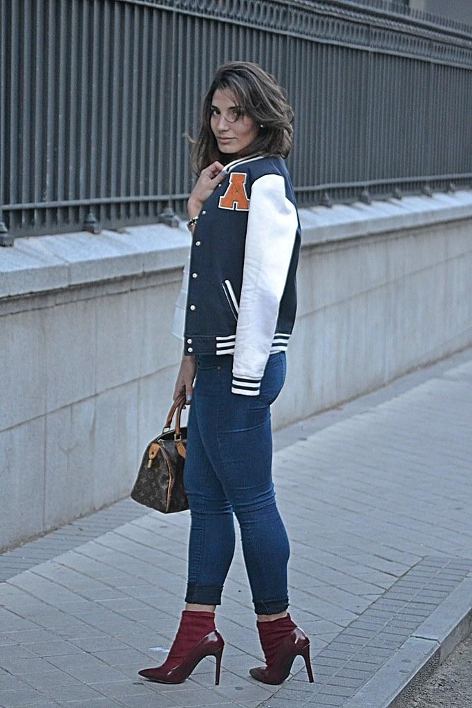 chaqueta universitaria