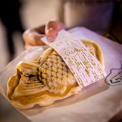 Freshly made taiyaki