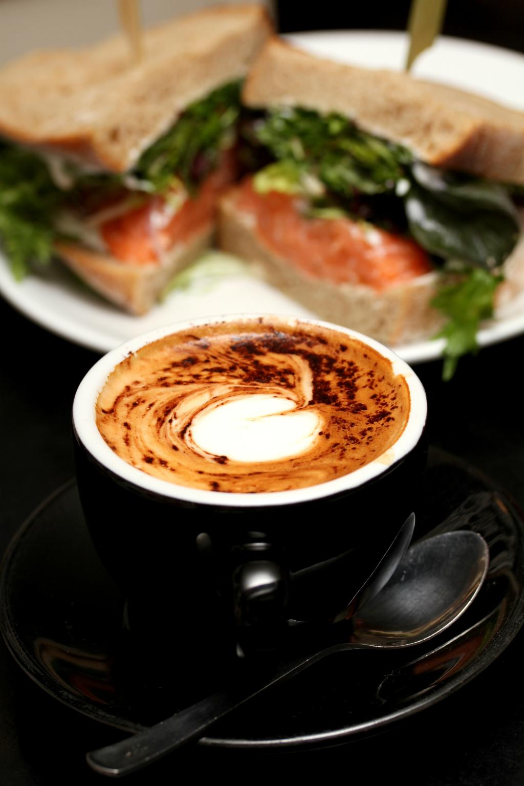 Sarnies @ Telok Ayer Street's cappuccino