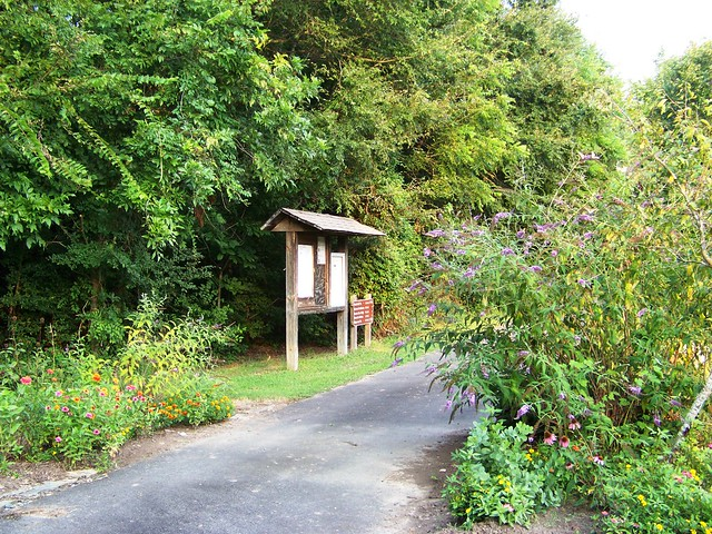 The Battlefield Trail features a butterfly garden.