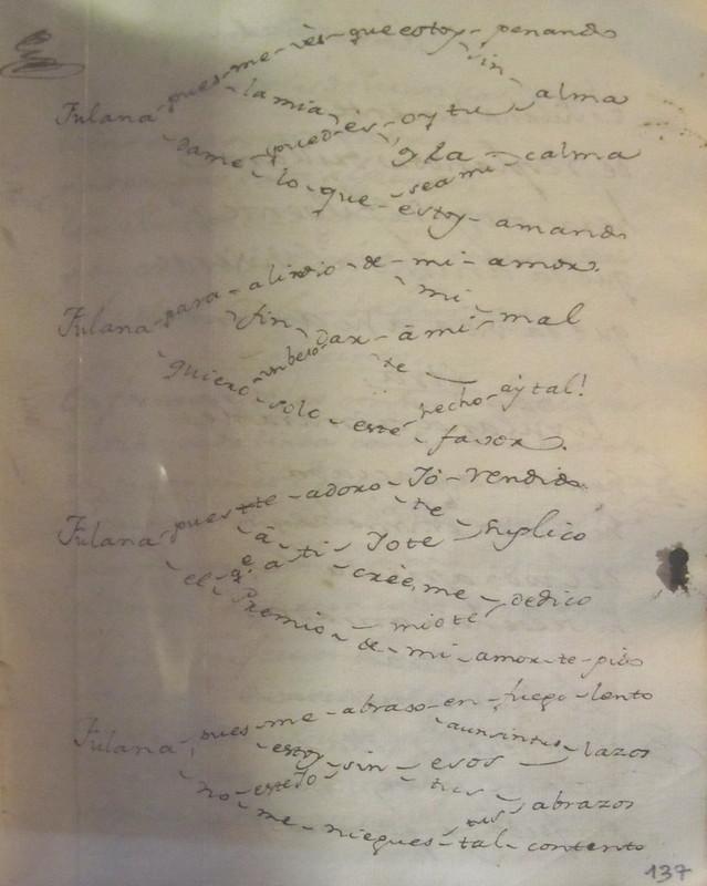 Poema oulipiano a Fulana