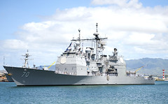USS Lake Erie (CG 70) returns to Joint Base Pearl Harbor-Hickam in June following a Western Pacific deployment. (U.S. Navy file photo/MC2 Diana Quinlan)