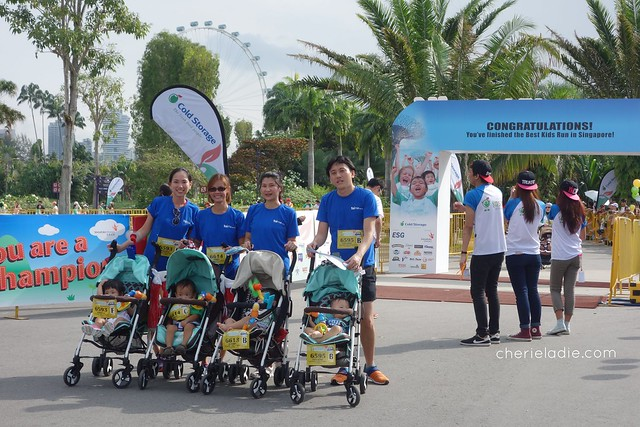 finisher's line of the S-26 Stroller Fun Run.